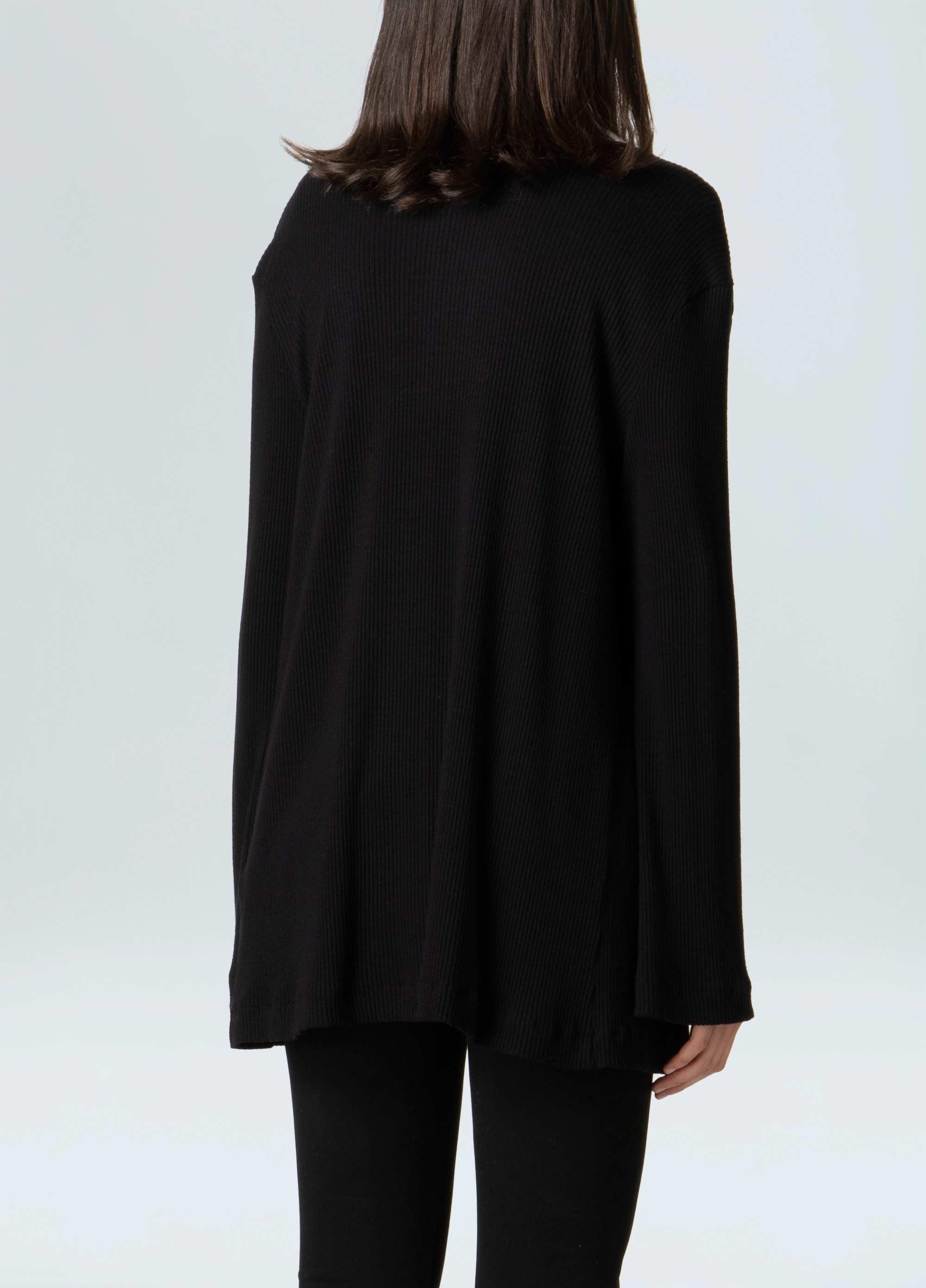 0b8cd7163 Blazer Feminino Rib Knit Detail